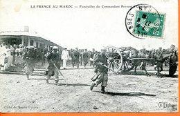"Maroc,Marruecos,Morocco, CPA  1909 ,  "" Funérailles Du Commandant Provost "" - Marokko (1891-1956)"