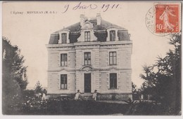 MONTJEAN (49) : L'EPINAY - CHATEAU OU MAISON BOURGEOISE - ECRITE EN 1911 - 2 SCANS - - France