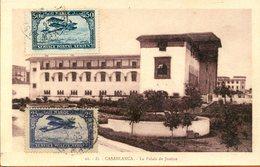 """Maroc,CPA 1923 """" Casablanca,le Palais De Justice""""Morocco;Marruecos - Marokko (1891-1956)"""