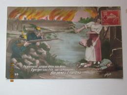 AR  :  Guerre 1914-1918 . Aux Armes , Citoyens - Patriotiques