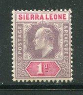 SIERRA LEONE- Y&T N°50- Neuf Avec Charnière * - Sierra Leone (...-1960)