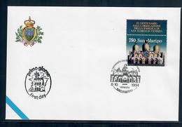 SAN MARINO  1995 - BASILICA DI SAN MARCO - FDC - Essais & Réimpressions