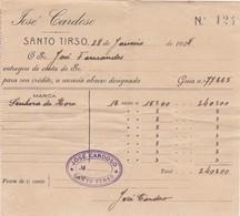 PORTUGAL COMMERCIAL INVOICE - SANTO TIRSO - JOSÉ CARDOSO - Portugal