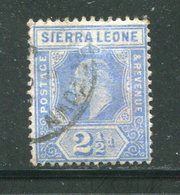 SIERRA LEONE- Y&T N°79- Oblitéré - Sierra Leone (...-1960)