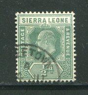 SIERRA LEONE- Y&T N°75- Oblitéré - Sierra Leone (...-1960)