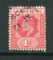 SIERRA LEONE- Y&T N°76- Oblitéré - Sierra Leone (...-1960)