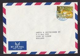 Rwanda: Airmail Cover To Netherlands, 1 Stamp, Animal, Leopard? (traces Of Use) - Rwanda