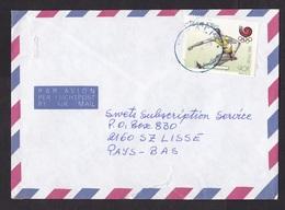 Rwanda: Airmail Cover To Netherlands, 1992, 1 Stamp, Olympics, Hurdles, Jumping, Athletics, Sports (minor Damage) - Rwanda