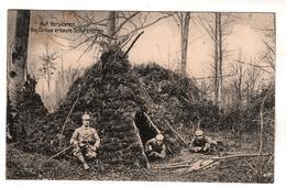 4195, Feldpost, Von Turkos Erbaute Schutzhütten - War 1914-18