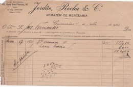PORTUGAL COMMERCIAL INVOICE - GUIMARÃES - JORDÃO, ROCHA & Cª.- ARMAZEM DE MERCEARIA - Portugal