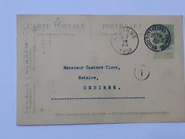 Entier Postal Envoyé De Bruges Station Vers Gedinne Le 15-12-1910 ... Lot7 . - Entiers Postaux