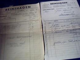 Lot 2 Facture  Christian  Reinshagen A Saarebruck  Allemagne Entreprise De Metalurgie  Annee 1934 - Allemagne