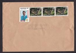 Rwanda: Cover To Netherlands, 4 Stamps, Dwarf Galago Animal, Bushbaby, President, Independence (fold) - Autres