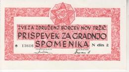 3505   SLOVENIJA   TRŽIČ    BON     2 DINARA - Slovénie