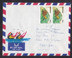 Rwanda: Airmail Cover To Netherlands, 2 Stamps, Snail, Animal (traces Of Use) - Rwanda