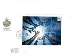 SAN MARINO  2014 - 40° DIRITTI E PRINCIPI SAN MARINO - FOGLIETTO - FDC - FDC