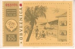 3506   SLOVENIJA   GASILSKA  OBVEZNICA  100 DINARA   1957 - Slovénie