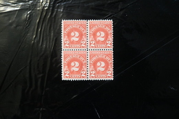 United States J81 Postage Due 2c Carmine Block Of Four MNH 1931 A04s - Postage Due