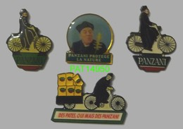 PATES PANZANI DON PATILLO Lot De 4 Pin's Differents - Food
