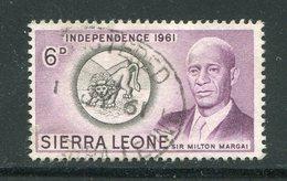 SIERRA LEONE- Timbre De 1961- Oblitéré - Sierra Leone (...-1960)