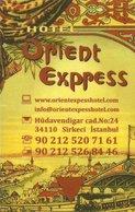 TURCHIA KEY HOTEL  Orient Express - İstanbul - Cartes D'hotel