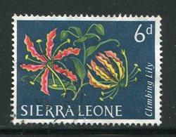 SIERRA LEONE- Timbre De 1963- Oblitéré (fleurs) - Sierra Leone (...-1960)