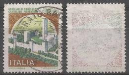 Varietà Di Stampa - Castello L.650 Usato Con Vistoso Decalco Dei Colori - 6. 1946-.. Repubblica