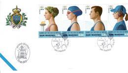 """SAN MARINO 2012 - GIOCHI OLIMPICI ESTIVI """"LONDON 2012""""   - STRISCIA - FDC - FDC"""