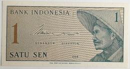 Billete Indonesia. 1 Sen. 1964. Original. Sin Circular - Indonesia