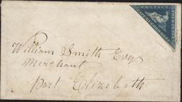 YT 4 4 Pence Bleu Cape Of Good Hope Triangulaire Non Oblitéré Signé Au Verso Angle Bas Droite Pour Port Elizabeth - Afrique Du Sud (...-1961)