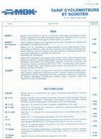 Tarif Mbk Cyclomoteur Et Scotters Velosolex 1 Juillet 1985 - France