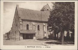 CPA Carte Postale Sainville Eure Et Loir L'église M Aube édit Rambouillet Dreux - Other Municipalities