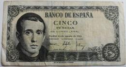 Billete 5 Pesetas. 1951. Jaime Balmes. España. - [ 3] 1936-1975 : Régimen De Franco