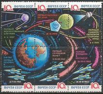 Russia 1964 Scott 2930A MNH Sheet Space, Map - 1923-1991 URSS