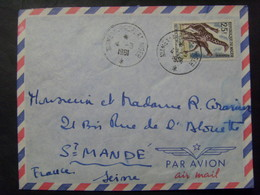 16858- Niger Lettre > France Affranchie Avec Timbre Thème Girafe, Obl. Niamey Aéroport - Giraffes