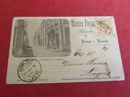 Portugal - Nazaré - Um Trecho Da Rua Augusta - Carte Postale Comercial - Leiria