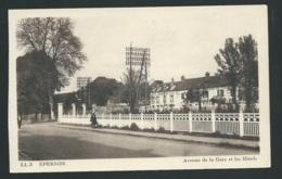 EPERNON - Avenue De La Gare Et Les Hôtels   Xk76 - Epernon