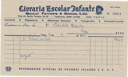 PORTUGAL COMMERCIAL DOCUMENT - PORTO - LIVRARIA ESCOLAR INFANTE - Portugal