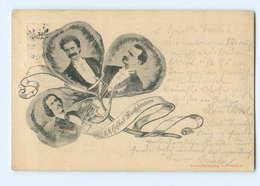 Y9289/ K.K. Hofball-Musikdirektoren Johann Strauss, Josef U. Eduard Strauss AK  - Cartes Postales