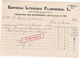 PORTUGAL COMMERCIAL DOCUMENT - LISBOA - EMPRESA  LITERARIA FLUMINENSE - Portugal