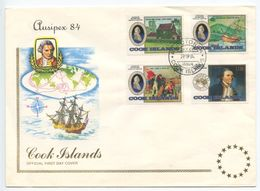 Cook Islands 1984 FDC Scott 829-832 Ausipex '84 Philatelic Exhibition - Cook Islands
