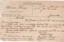 PORTUGAL COMMERCIAL DOCUMENT - PORTO - ADRIANO MAYA - Portugal