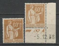 TYPE PAIX N° 364 X 2 Nuances NEUF** GOM D'ORIGINE SANS CHARNIERE / MNH - 1932-39 Paix