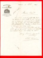 FACTURE (Réf : D477)  BRASSERIE V. FEURSINGER PAMIERS (Ariège) - France