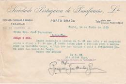 PORTUGAL COMMERCIAL DOCUMENT - PORTO - BRAGA - SOCIEDADE PORTUGUEZA DE PANIFICAÇÃO - Portugal