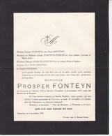 LEUVEN TREMELO Prosper FONTEYN 1854-1930 MERTENS STERCKX - Décès