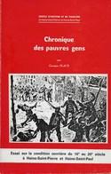 Chronique Des Pauvres Gens. Haine-Saint-Pierre Et Haine-Saint-Paul. Histoire Et Folklore. Georges Place - Cultuur