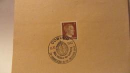 """DR: Blatt Mit 3 Pf Adolf Hitler SSt. COBURG """"Mit Hitler In Couburg - 20-Jahrfeier 16.-18. Oktober 1942"""" Vom 16.10.42 - Briefe U. Dokumente"""