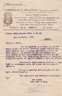 PORTUGAL COMMERCIAL DOCUMENT - PORTO - COMPANHIA DE SEGUROS - COMERCIO E INDUSTRIA - Portugal