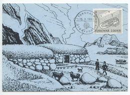 Faroes 1982 Scott 82 FDC Maxicard Viking House Foundation / Europa - Faroe Islands